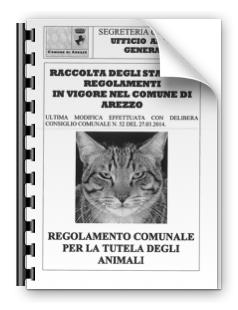 Comune di Arezzo: Nuovo regolamento per la tutela degli animali